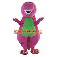 Custom made High quality Adult Barney Cartoon Mascot Costumes on Adult Size