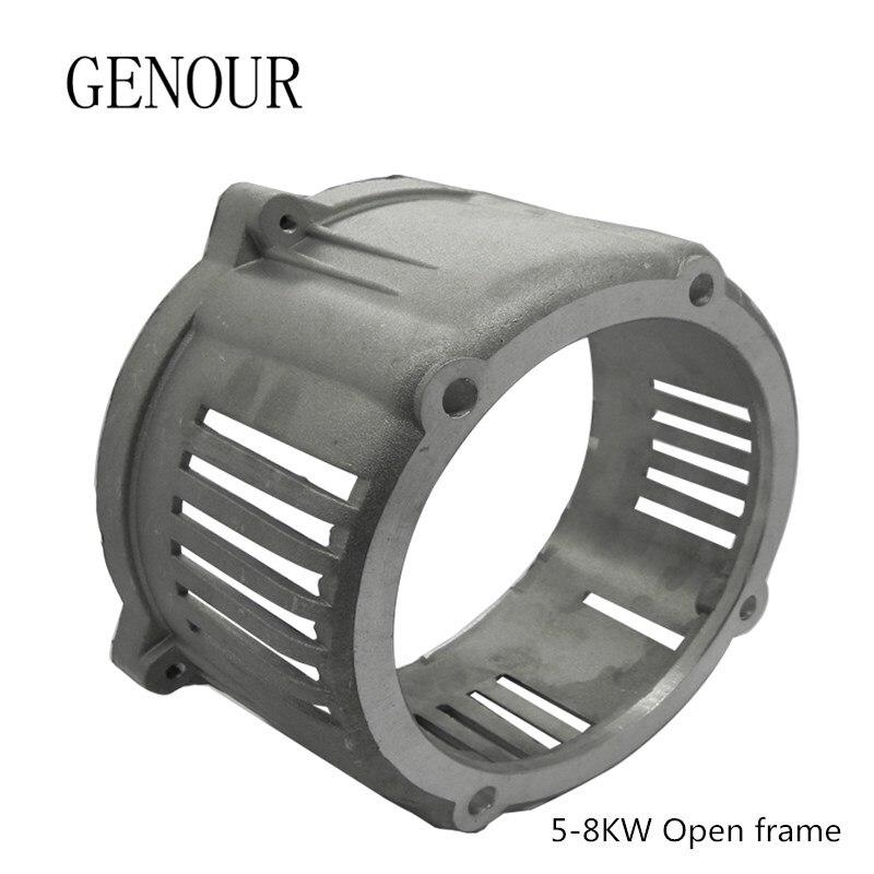 Support avant en aluminium de générateur Diesel pour les pièces de générateur de KAMA Kipor actionnées par moteur Diesel refroidi par Air de 5-8kw 4 temps