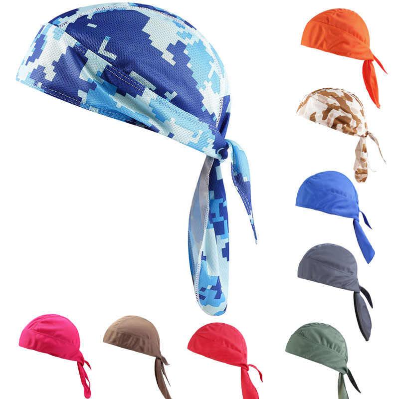 Bisiklet Şapkalar Hızlı Kuru bisikletçi şapkası başörtüsü Yaz Erkekler Koşu Sürme Bandana Başörtüsü Ciclismo korsan şapkası Hood Kafa Bandı