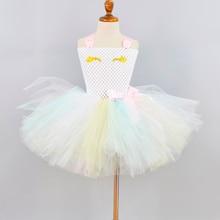 New Pastel Unicorn Tutu Dress for Girls Baby Theme Birthday Party Dresses Kids Halloween Costume 1-12Y