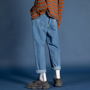 Image 4 - 2019 męskie rozciągliwe dopasowanie Fit klasyczne obcisłe dżinsy rurki spodnie czarny/niebieski kolor mężczyzna oryginalny wypoczynek dorywczo spodnie duże rozmiary M 5XL