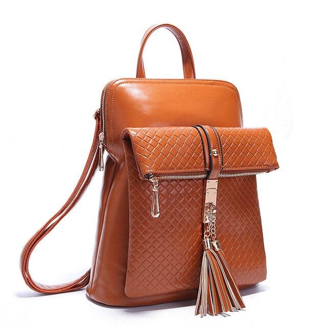 Retro Tassel Women Backpack Designer Brand Backpacks School Bag PU Leather  Women s Shoulder Bags Belt Schoolbags 2e6881466881b