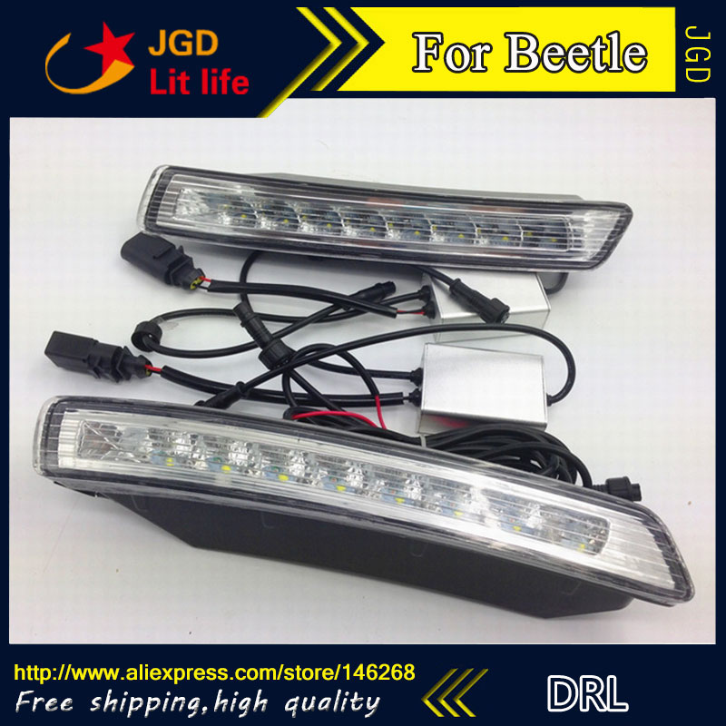 Free shipping ! 12V 6000k LED DRL Daytime running light for VW Beetle 2007-2010 fog lamp frame Fog light Car styling недорого