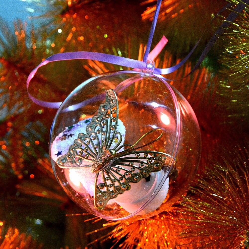 unids tamao pequeo claro decoracin de navidad colgante de bolas de bolas coraznde