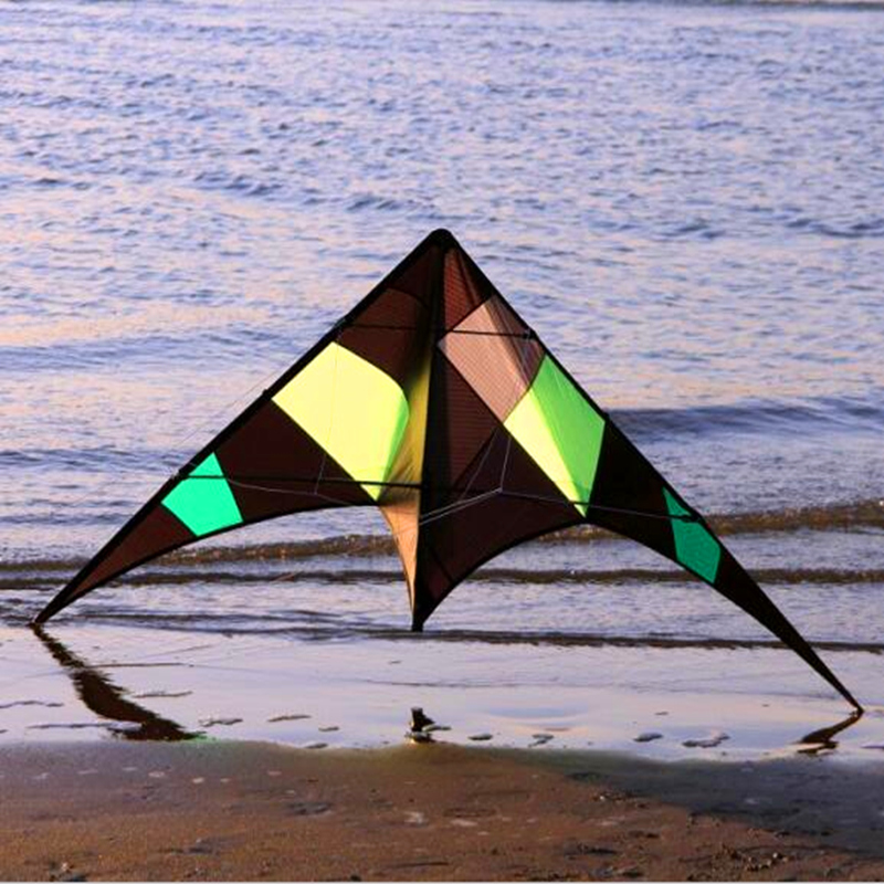 free shipping high quality rattlesnake tumbling stunt kite omnipotence dual line kite with handle line outdoor toys flying wei professional stunt kite designs outdoor sport power kite 4 line beach kite with handles flying line string