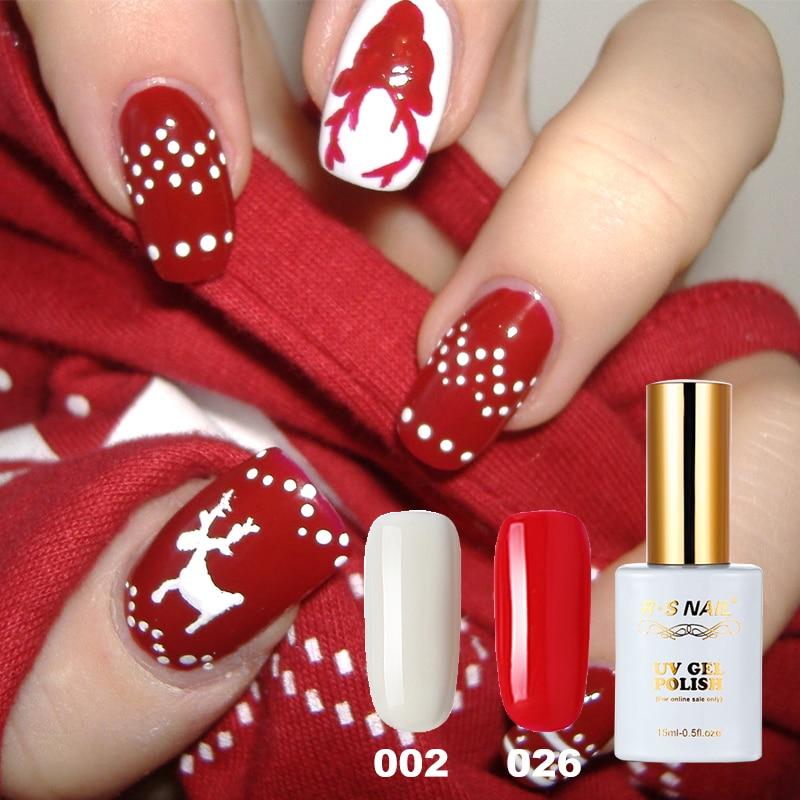 Christmas Nail Art With Gel Polish: RS Winter Christmas Series Color Nail Gel Polish Soak Off