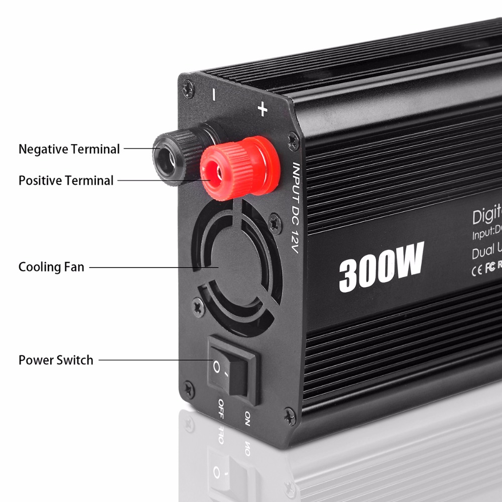 Aliexpress com buy onever car inverter 300w modified sine wave inverter 12v 110v 60hz ac modified sine wave power inverter car voltage convert from