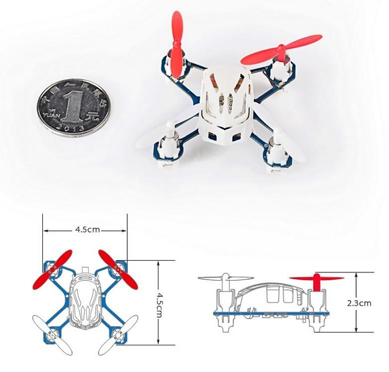 LeadingStar Hubsan H111 4CH 6-axis Gyro Mini RC Quadcopter with LED Light 2.4GHz RTF Childrens Toy zk49