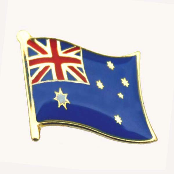 Australia Flag Pin/single pin16mm,butterfly button on backing,1pcs/bag, MOQ300pcs, free shipping
