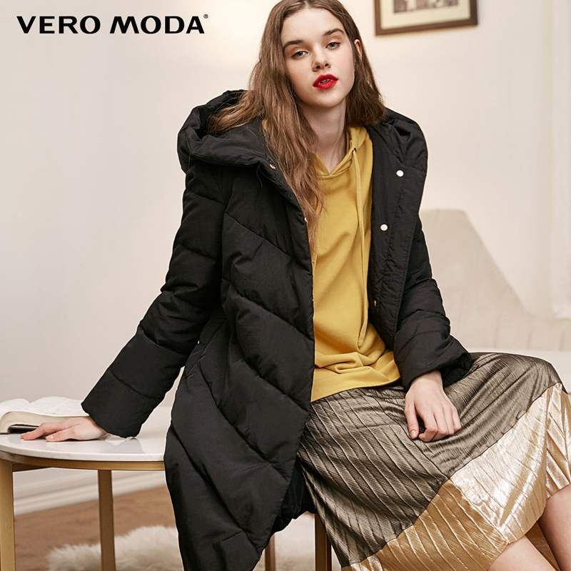Vero Moda new hooded 90% white duck oversize long   down   jacket women parka   coat   | 318412503