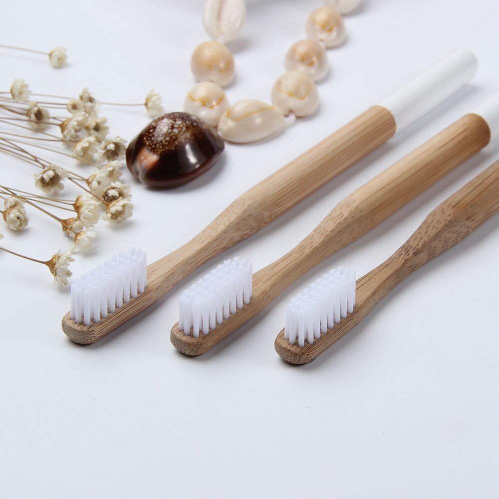 HOT 1PC Natural Bamboo Handle Toothbrush Whitening Soft Bristles Low Carbon Portable Bamboo Toothbrush Eco-friendly Oral Care image