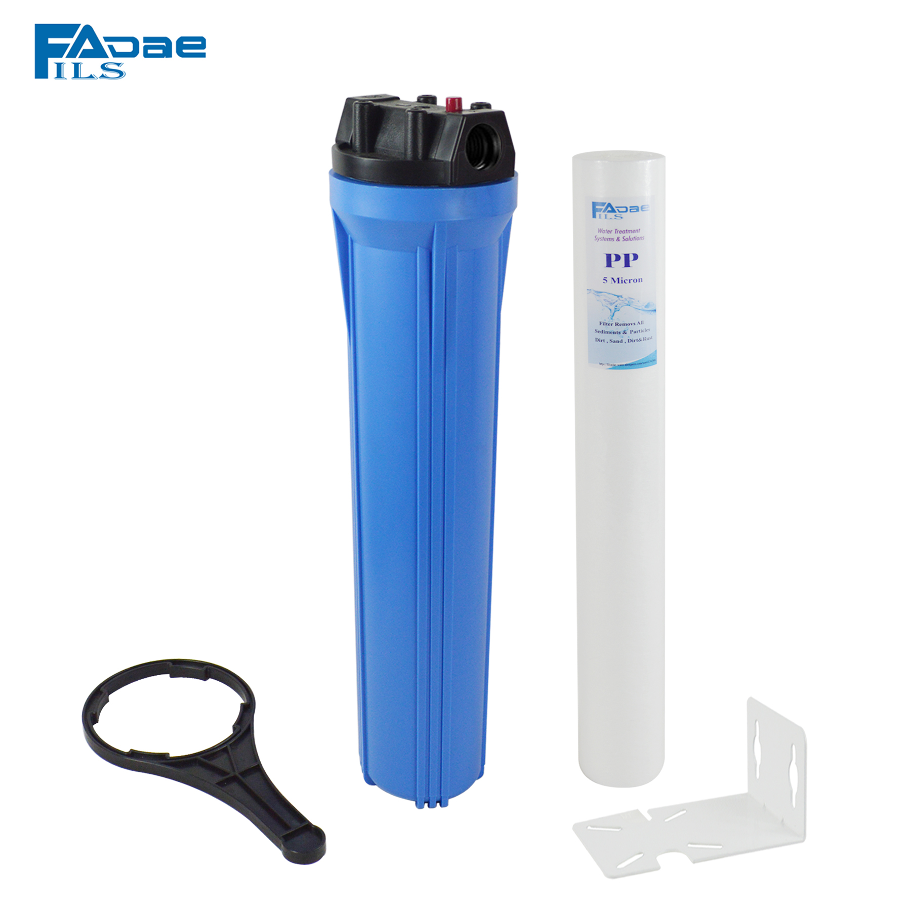 20 Slim Blue water filter housing include one pp sediment filter 5 micron wrench bracket 1