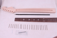 1 Pcs Electric Guitar Neck New Unfinished 22 Fret 25 5 Inch Truss Rod 007