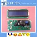 Free Shiipping 1lot=2pcs 1pcs 1602 16x2 HD44780 Character LCD blue + 1pcs IIC/I2C 1602 Serial Interface Adapter Module