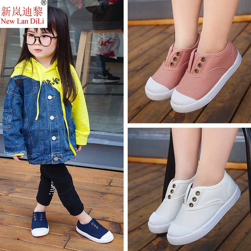 2019 Spring Kids Canvas Shoes Toddler Boys Girls Canvas Sneakers Children Canvas Shoes Girls Flats Slip On Casual Shoes