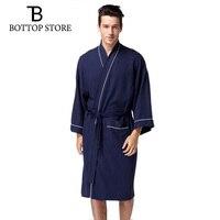 Man Bathrobe Large Size Man Kimono Pajamas Male Cotton Waffle Nightgown Gay Nightdress Loungewear Mens Pyjamas Sleepwear Red