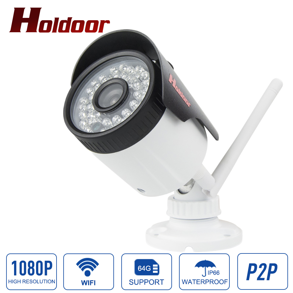 IP66 Waterproof Outdoor Bullet IP Camera Wifi 802.11 b/g/n Wireless IP Cam 1080P ONVIF 2.0.4 Camera With SD Card Slot Max 64G bullet camera tube camera headset holder with varied size in diameter