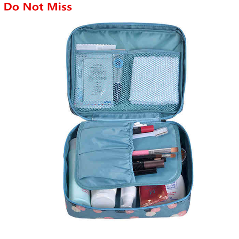 Do Not Miss Drop ship high quality Make Up Bag Women waterproof Cosmetic MakeUp bag travel organizer for toiletries toiletry kit(China)