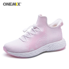 ONEMIX Womens Running Shoes Outdoor Walking Sneakers for Couple Red Sport zapatos de mujer Slip-on jogging