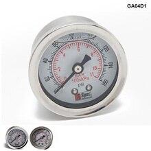 Регулятор давления топлива Манометр 0-160 фунтов/кв. дюйм Жидкостная заливка хром датчик топлива счетчик масла 1/8 NPT HU-GA01