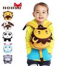 NOHOO 3D Animals Printing School Backpacks for Children Waterproof Cartoon Kids School Bags for Girls Mochila Escolar