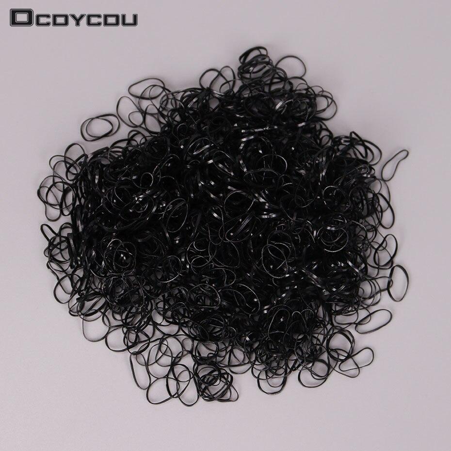 Около шт./пакет 1000 новые детские Резиночки для волос резинки для волос Женский Галстук косы аксессуары для волос
