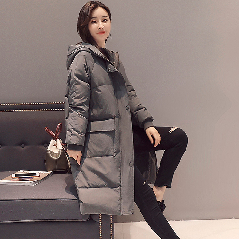 YAGENZ 2017 new soft sister winter coat Korean version of the long paragraph down jacket cotton winter thick loose  cotton yagenz 2017 new soft sister winter coat korean version of the long paragraph down jacket cotton winter thick loose cotton