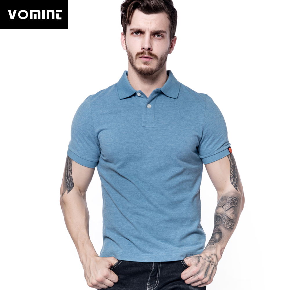Vomint 2018 Summer New Mens Cotton Polo Shirts Short Sleeve Solid