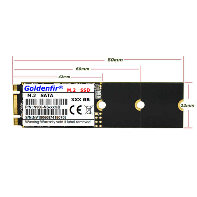 Golerfir m.2 SSD M2 SATA 2260 120 ГБ 240 ГБ 500 512 960 60 Гб 64 Гб HDD 2260 мм NGFF SSD жесткий диск для ноутбука, бесплатная доставка