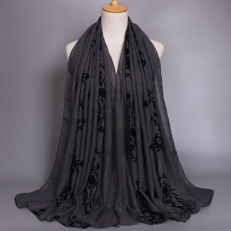 Plain Bestickt Cashew Floral Viskose Schal Schal 2019 Damen Mode Großen Größe Baumwolle Wrap Foulard Sjaal Bufandas Moslemisches Hijab