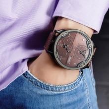 Oulm גדול שעונים לגברים מרובה אזור זמן ספורט קוורץ שעון זכר יוקרה אופנה ספורט גברים שעוני יד Relogio Masculino