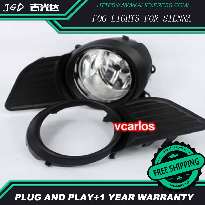 2PCS / Pair Halogen Fog Light For Toyota SIENNA 2011-ON High Power Halogen Fog Lamp Auto DRL Lighting Led Headlamp bqlzr dc12 24v black push button switch with connector wire s ot on off fog led light for toyota old style