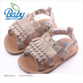 2017 Fashion Newborn Baby Moccasins Shoe High Quality Rubber Baby Sandals Flat  With Girl Walker Outdoors Silver/Gold 11-13cm