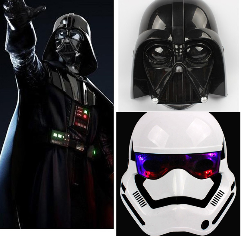 Máscara de Star Wars The Darth Vader y Stormtrooper Máscara con luz LED Halloween Party Game para regalo de los niños