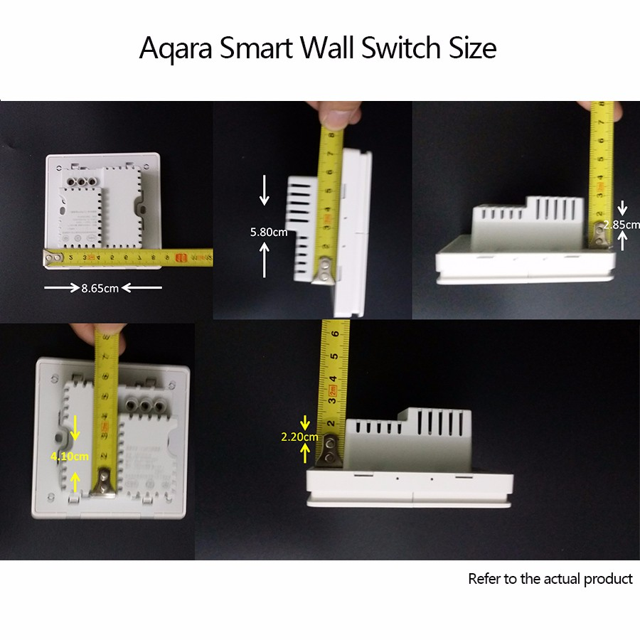 aqara wall switch size