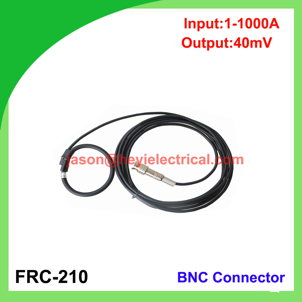 input 1000A FRC-210 flexible rogowski coil with BNC connector output 40mV split core current transformer input 5000a frc 600 flexible rogowski coil with bnc connector output 500mv split core current transformer