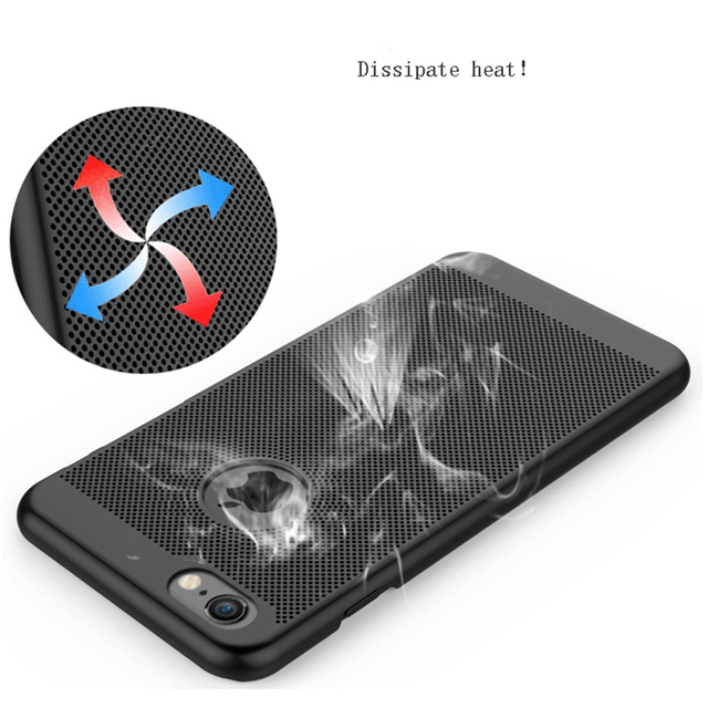 GerTong Heat Dissipation Phone Case For iPhone X 8 7 6 6s Plus 5 5s SE Cover Cool Matte Hard PC Case For iPhone XS MAX XR 11 Pro