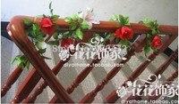 Эмуляции розы лилии цветок винограда/декоративный цветок/искусственный цветок винограда/декоративные сантехника настенный кондиционер
