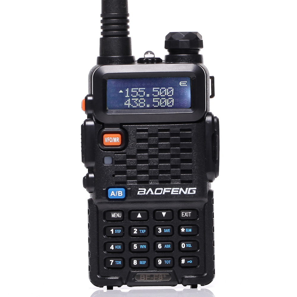 Baofeng UV F8 + Walkie Talkie Portable Radio Dual Band UHF & VHF UV-5R 136-174MHz & 400-520MHz 5W Dua Arah Radio