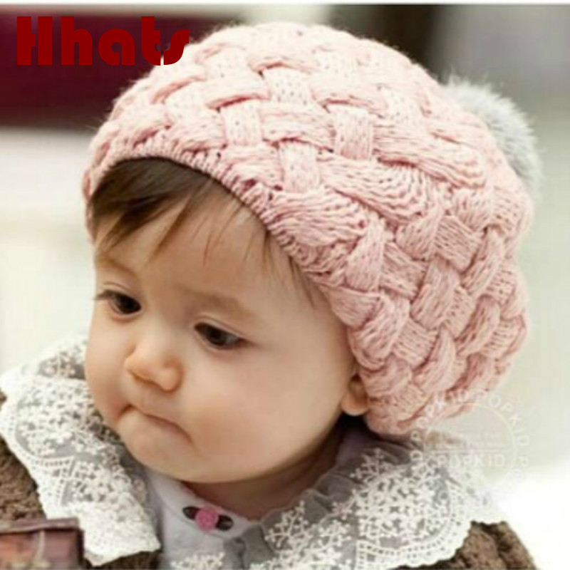 Which in shower real rabbit fur ball cap pom poms winter hat for baby girl and boy hat spring   skullies     beanies   with pompom top