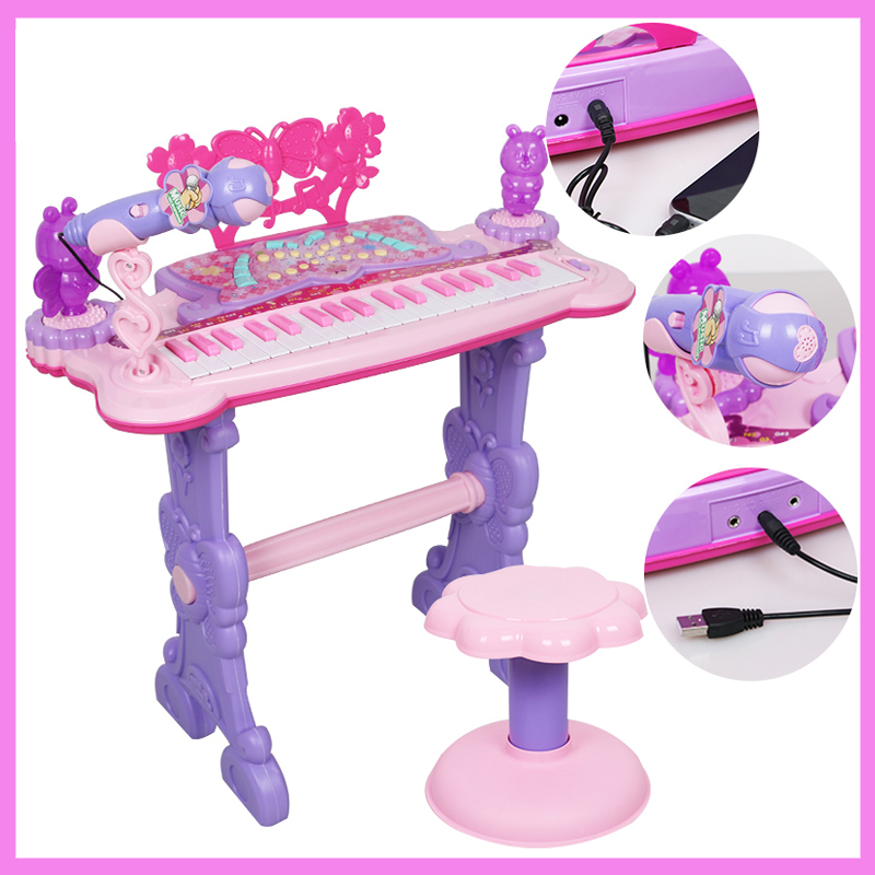 Baby Toy Educational Musical Instrument Child Large Electric Playing Keyboard Piano Beginners Kids Instruments Birthday Gift t3184b educational toy coin slide chip game toy playing toy set