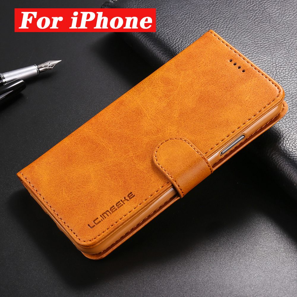 Business Leather Flip Case For Apple iPhone 6 6S 7 8 Plus X XR XS MAX