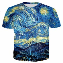 ebd03f1f906 Summer Style Fashion T Shirt Abstract Multicolored Canvas Painting Print 3D T  Shirt Men Women