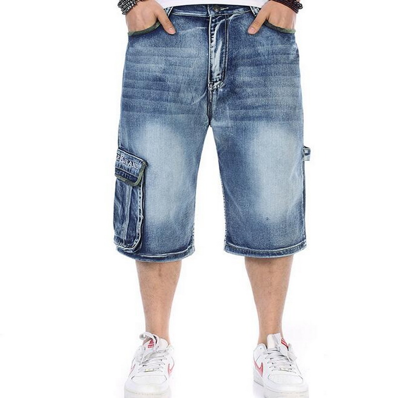 78e18fa792 VXO Summer Mens Retro Cargo Denim Shorts Vintage Acid Washed Faded Short  Jeans For Men HIPHOP Harlan ...