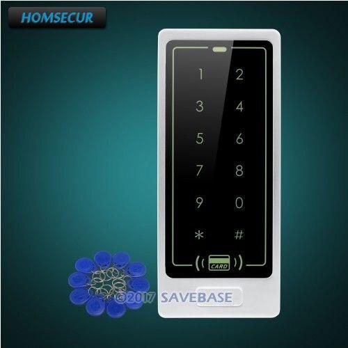 HOMSECUR Waterproof Wiegand 26/34 Metal Access Control 125Khz RFID Reader+Tamper Alarm homsecur waterproof 125khz rfid access control system with 8000 user capacity tamper alarm function doorbell
