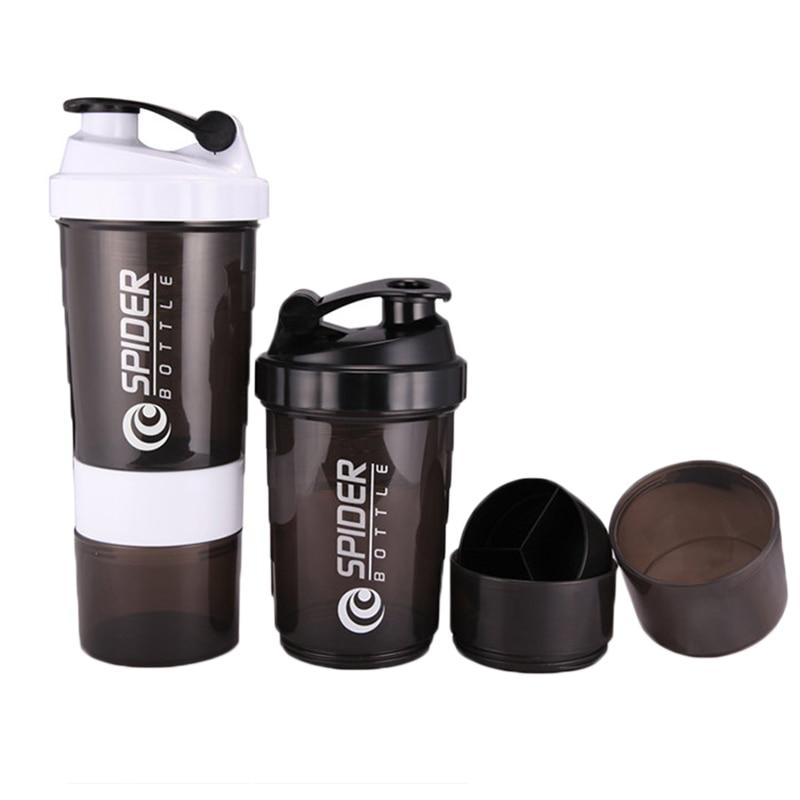 Protein Shaker Lid: Fashion Sport Men Water Bottle Plastic Botle Protein