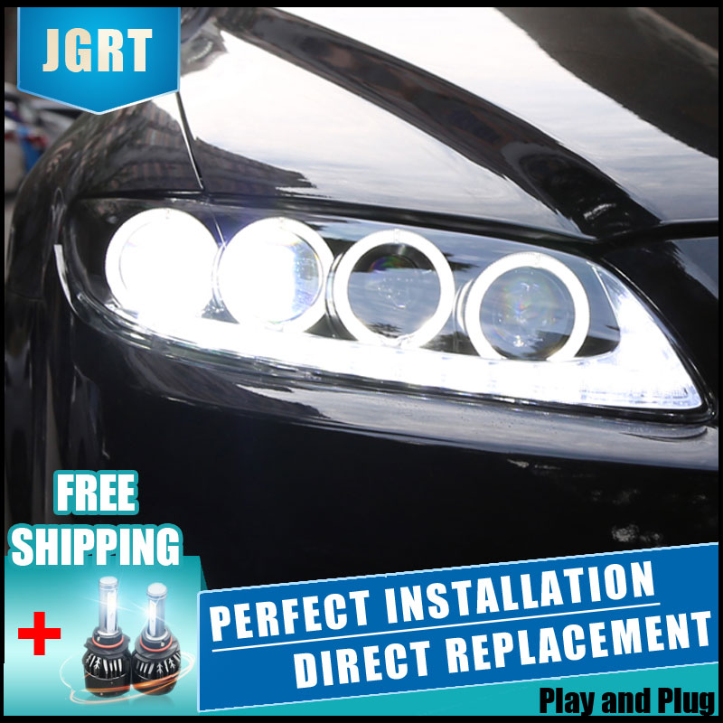 2PCS <font><b>LED</b></font> Headlights For <font><b>Mazda</b></font> <font><b>6</b></font> 2003-2014 Car <font><b>Led</b></font> <font><b>Lights</b></font> Double Xenon Lens Car Accessories Daytime Running <font><b>Lights</b></font> Fog <font><b>Light</b></font> image