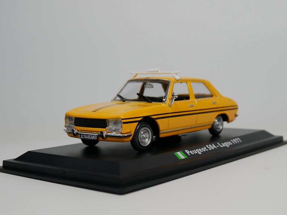 leo <font><b>model</b></font> <font><b>1</b></font>:<font><b>43</b></font> <font><b>peugeot</b></font> 504 Lagos taxi 1977 Nigeria taxi Die-Cast <font><b>model</b></font> <font><b>car</b></font> image