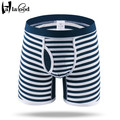 Hot 2017 New Cheap Mr Cotton Fashion Sexy Men's Boxers Shorts Brand Mans Underwears Male Underpant 3D U Convex Striped Panties