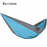 Outdoor Camping Parachute Hammock Hamak For Travel Survival Sleeping Hanging Hamac With 2 Ropes 2 Carabiners